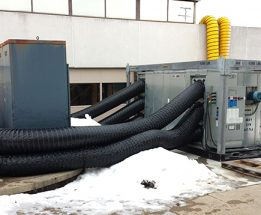 temporary heating and desiccant drying